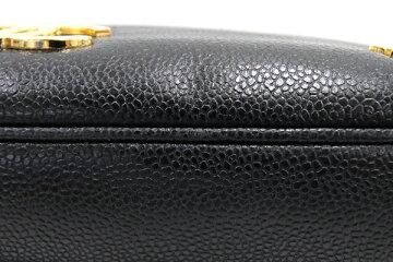 シャネルトートバッグトリプルココチェーントートブラックキャビアスキン中古肩掛けココマークレディースCHANEL