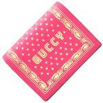 グッチ二つ折り財布SEGAコラボ524965ピンクゴールドレザー中古コンパクトウォレットレディースGUCCI