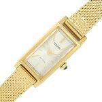 シチズンレディースウォッチキーEG7042シルバーカラーダイヤルバーインデックスステンレススティールクリスタルガラスエコドライブ中古ゴールドカラー女性婦人腕時計CITIZEN