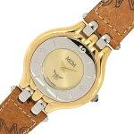 フェンディレディースウォッチゴールドカラーダイヤルアラビア数字インデックスバーインデックスステンレススティールPVCクォーツ中古ライトブラウン女性婦人腕時計FENDI