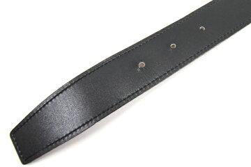 エルメスベルトブラックブラウンボックスカーフトゴ90cmO刻印2011年製造中古HロゴリバーシブルメンズHERMES