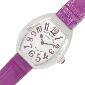 【中古】フランクミュラー レディースウォッチ ハート トゥ ハート 5002SQZJA シルバーダイアル アラビア数字インデックス ステンレススチール クロコダイルベルト 婦人 女性 時計 FRANCK MULLER | 腕時計 クォーツ うでとけい ウォッチ ブランド時計 ブランド レディース