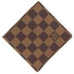 ルイヴィトン二つ折り財布ダミエポルトビエカルトクレディモネN61665中古コンパクトウォレットブラウンチェック柄レディースメンズLOUISVUITTON