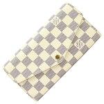 ルイヴィトン二つ折り長財布ダミエアズールポルトフォイユサラN63208新品未使用ロングウォレットチェック柄レディースLOUISVUITTON