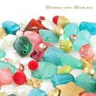 【ゆうパケット可】クリスマスカラー☆ビーズミックス♪アクリルビーズ♪ミックス約100g★アクリル/ビーズアンドパーツ/樹脂/プラスチック/アクセサリー/パーツ/材料/beads552