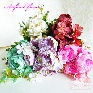 【宅配便】インテリアの装飾に 茎付き造花 5色 1本 多弁花 ラナンキュラス アーティフィシャルフラワー 花束 ブーケ ハーバリウム Z-49