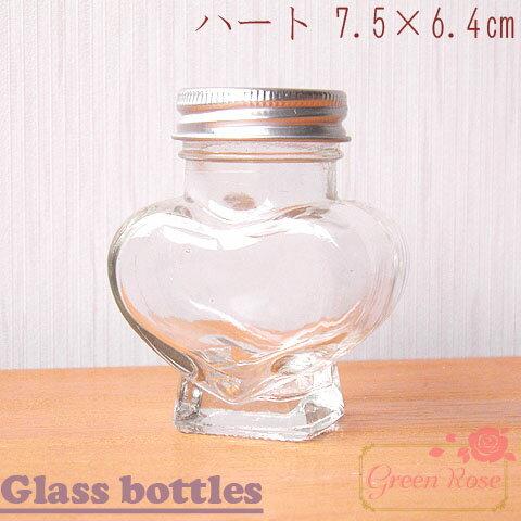 ガラス瓶 ハート 10本 /ビン/ボトル/ハーバリウム/資材/材料/bottle-020