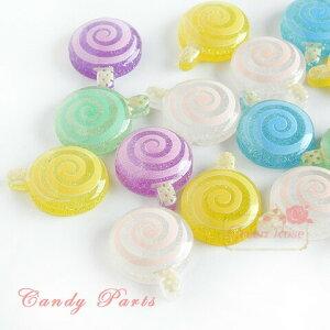 くるくるキャンディパーツ ミックス50個 キャンディ/飴/デコ/貼付/スイーツ/アクセサリー/パーツ/材料/YM1-0881