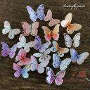 デコパーツ バタフライ パープル・ピンク系 全18種 10個 /暖色/蝶/立体/プラスチック/貼付/アクセサリーパーツ/材料/Y…