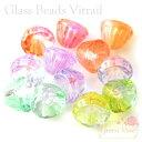 【卸売り】単価10円 ヴィトライユのガラスビーズ ベル 6色 10個/ビーズ/ガラス/アクセサリー/パーツ/材料/vb/beads103
