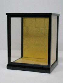人形ケース ガラスケース 間口27×奥行24×高さ35cm(ケース内寸)戸付 黒桑塗り 博多人形用 木目込人形用