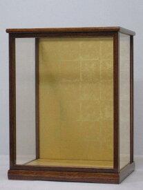人形ケース 間口30×奥行き24×高さ40cm(ケース内寸) ガラスケース 戸付 ケヤキ塗り 博多人形 日本人形