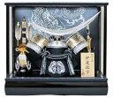 ◆新品◆五月人形♪10号シルバー伊達兜ケース飾りYN31312GKC 伊達正宗 五月人形ケース(木製弓太刀) 兜飾り 銀伊達 kabuto yoroi