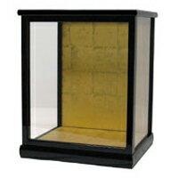人形ケース(ガラスケース)24×20×29.5(ケース内寸)戸付 黒桑塗り 市松人形 木目込人形 博多人形