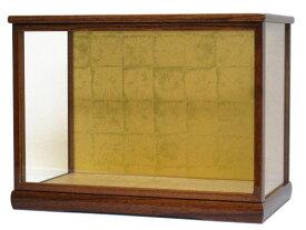 人形ケース 間口55×奥行31×高さ35cm(ケース内寸) ケヤキ塗り ガラスケース 木製戸付 雛人形