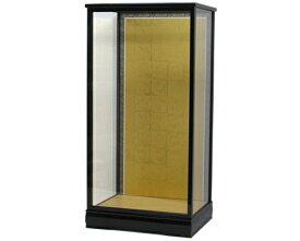 人形ケース 間口36×奥行き27×高さ70cm(ケース内寸) 結納羽子板20号用 ガラスケース 黒桑塗り 戸付 羽子板ケース