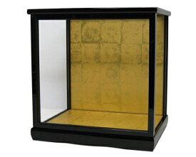 人形ケース 間口30×奥行24×高さ30cm(ケース内寸) 黒桑塗り ガラス 博多人形