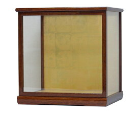 人形ケース 間口30×奥行24×高さ30cm(ケース内寸) ケヤキ塗り ガラスケース 木製戸付