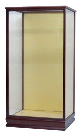 人形ケース 羽子板ケース 間口40×奥行き32×高さ78cm(ケース内寸)戸付 ガラスケース 花梨塗 結納羽子板23号用