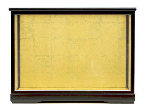 人形ケース475 間口68×奥行33×高さ50cm(ケース内寸)黒塗戸付 ガラスケース 木目込人形 雛人形