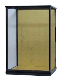 人形ケース 間口40×奥行35×高さ60cm(ケース内寸)黒桑塗り ガラスケース 木製 戸付 市松人形 日本人形