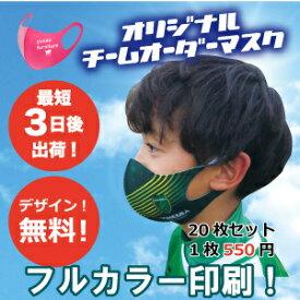 おしゃれなオリジナルプリントマスク(1セット20枚入サイズS・M・F)
