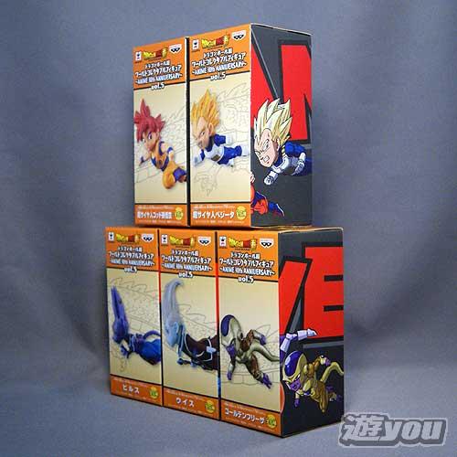 ドラゴンボール超 ワールドコレクタブルフィギュア -ANIME 30th ANNIVERSARY- vol.5 5種セット バンプレスト プライズ