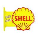 シェル フランジ 看板 サイン 両面看板 SHELL アメリカン雑貨