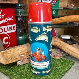 ヴィンテージ アラジン ボトル 水筒 50's Aladdin ANGLER Vacuum Bottle #2284 [C-28]