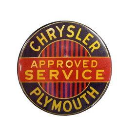 缶バッチ 大 / #8.CHRYSLER PLYMOUTH クライスラー プリムス アメリカン雑貨