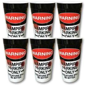BLOODY WARNING カップ ビッグ プラカップ 6個 セット プラスチック キャンプ アウトドア アメリカン雑貨