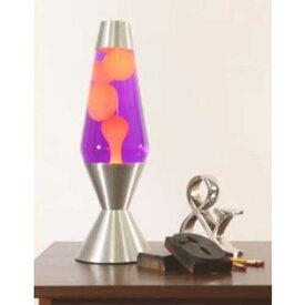 [5225] ラバライト Lava Light Lamp ラバランプ 16.3インチ Lサイズ / Yellow Wax Purple Liquid Silver Base