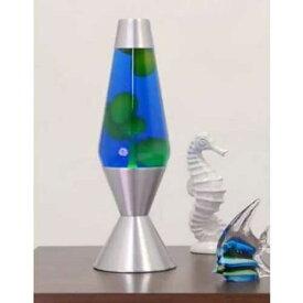 [5224] ラバライト Lava Light Lamp ラバランプ 16.3インチ Lサイズ / Yellow Wax Blue Liquid Silver Base アメリカン雑貨