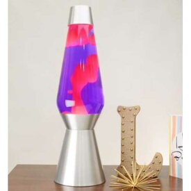 [6821] ラバライト Lava Light Lamp ラバランプ ジャンボサイズ Pink wax purple liquid Silver Base 27インチ アメリカン雑貨