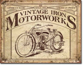 【まとめ割】Vintage Iron Motorworks (1842) ブリキ看板 ティンサインプレート アメリカン雑貨