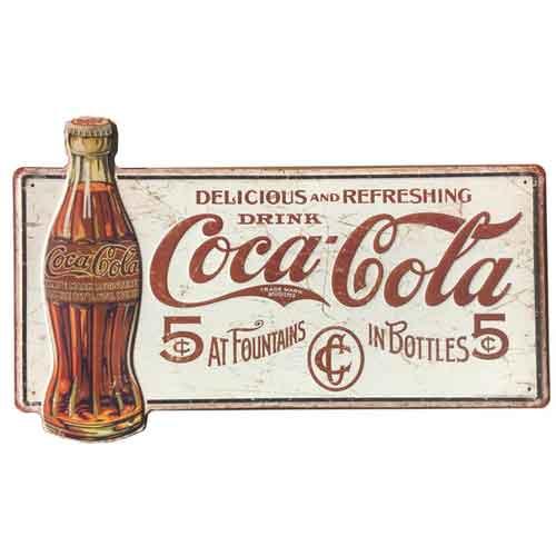 コカ コーラ Coca-Cola 大判 メタルサイン 看板 ヴィンテージ調 エイジング