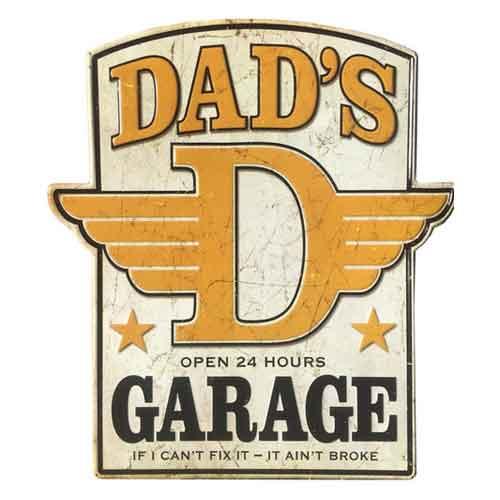 DAD's ガレージ 大判 メタルサイン 看板 ヴィンテージ調 エイジング
