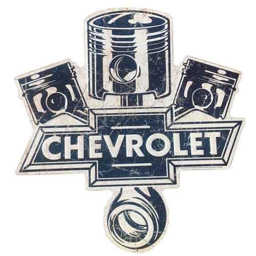 シボレー Chevrolet 大判 メタルサイン 看板 ヴィンテージ調 エイジング