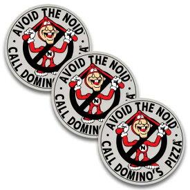 ステッカー 3枚 セット / AVOID THE NOID DOMINO'S PIZZA ドミノピザ アメリカン雑貨
