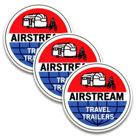 ステッカー 3枚 セット / AIR STREAM エアストリーム TRAVEL TRAILERS アメリカン雑貨