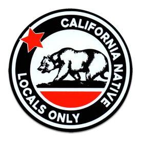 ステッカー / California Locals Only カリフォルニアローカルズオンリー アメリカン雑貨