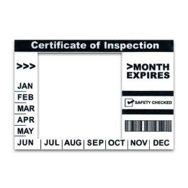 [新サイズ対応] 普通車 車検 インスペクションステッカー 検査標章 シール [白×黒]