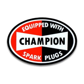ステッカー / CHAMPION チャンピオン オーバル アメリカン雑貨