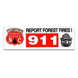 ステッカー / FOREST 911 Smokey Bear スモーキーベア アメリカン雑貨