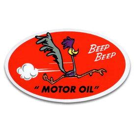 ステッカー / ROAD RUNNER MOTOR OIL ロードランナー アメリカン雑貨