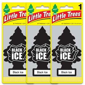 [メール便送料無料] ブラックアイス 3枚セット / Little Trees リトルツリー アメリカン雑貨