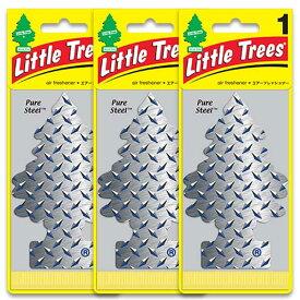 [メール便送料無料] ピュアスティール 3枚セット / Little Trees リトルツリー アメリカン雑貨