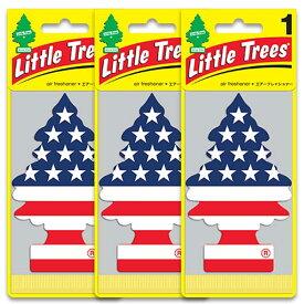 [メール便送料無料] Vanilla Pride スターズ&ストライプス 3枚セット / Little Trees リトルツリー アメリカン雑貨