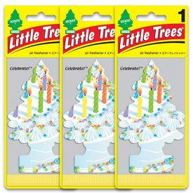 [メール便送料無料] セレブレイト 3枚セット Celebrate! / Little Trees リトルツリー アメリカン雑貨