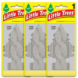 [メール便送料無料] ケーブル・ニット 3枚セット Cable Knit / Little Trees リトルツリー アメリカン雑貨